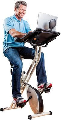 #7. FitDesk Upright Semi-Recumbent Magnetic Cycle Folding Stationary Exercise Bike Desk