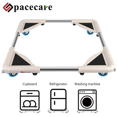 #3. SPACEARE Adjustable Furniture Dolly with 4 Locking Wheels Washing Machine Base Moving Cart