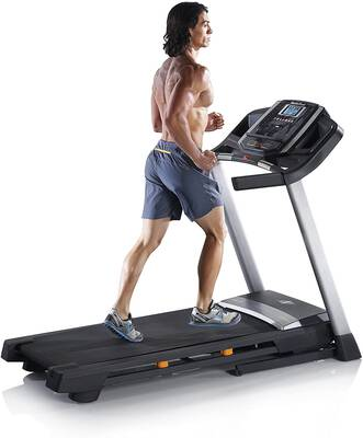 #2. NordicTrack T-Series 10% OneTouch Incline Control Space Saver 300lbs User Capacity Treadmill