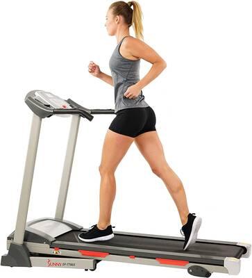 #6. Sunny Health & Fitness SF-T7603 Easy Handrail Controls & Preset Button Electric Treadmill