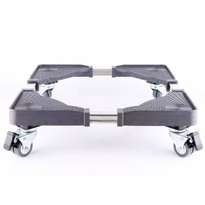 #7. UPHAN Universal Movable 8 Locking Swivel Wheels Dolly Trolley for Washing Machine WS02