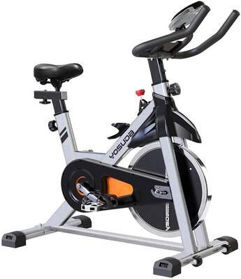 #3. YOSUDA Comfortable Seat Cushion Indoor Cycling Bike Stationary w/Pad Mount (Grey)