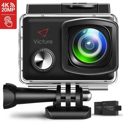 #3. Victure AC900 20MP EIS Waterproof 30M Underwater Sports Cam Wi-Fi 4K Action Camera