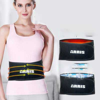 #4. ARRIS Ice Pack for Lower Back Injuries and Back Pain Relief with Adjustable Lumbar Support