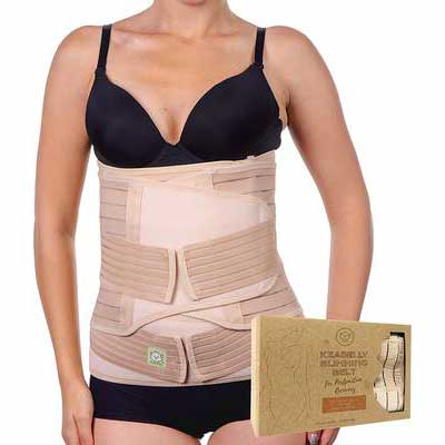 #5. KeaBabies 3 in 1 Postpartum Recovery Wrap Belly Support for Postnatal Maternity and Pregnancy