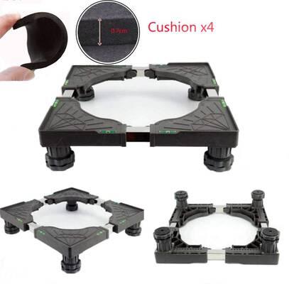 #9. Ismartmoon Universal Mobile Base Fridge Stand Adjustable Base 4 Feet Strong for Washing Machine