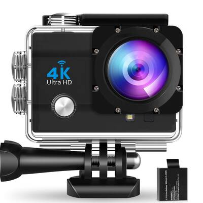 #7. WearNow G7 Pro16MP Vision 131ft 1700 Wide Angle Waterproof Ultra-HD 4K Action Camera