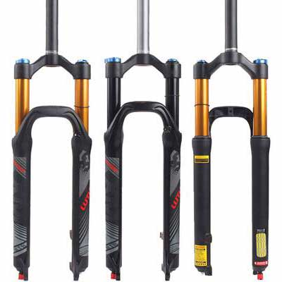 #9. BUCKLOS Rebound Adjust Straight Tube 28.6mm Ultra-Light Gas Shock XC Bicycle Lockout Forks