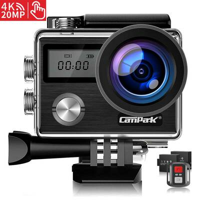 #5. Compark (Upgrade) 20MP Waterproof 40M Compatible with GoPro 4K Ultra-HD Action Camera.
