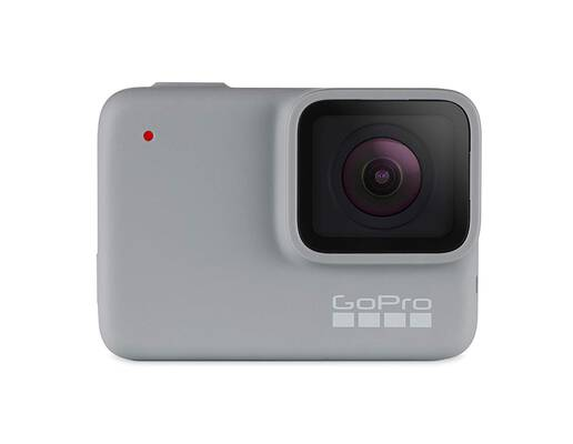 #1. GoPro HERO7 Waterproof 1080 HD Video 10MP Photos Touch Screen Action Camera (White)