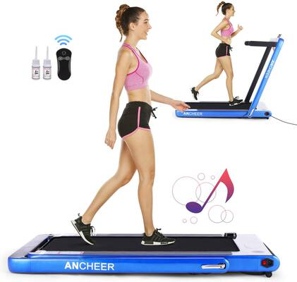 #10. ANCHEER 2-IN-1 Under Desk Smart Remote Control & Bluetooth Speaker Walking Running Machine