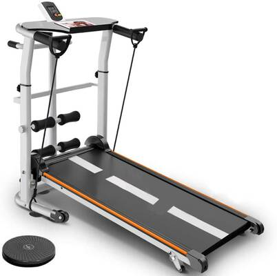 #5. Homlpope 4-in-1 Treadmill Folding Running Supine T-Wisting Treadmills Home Gym Workout